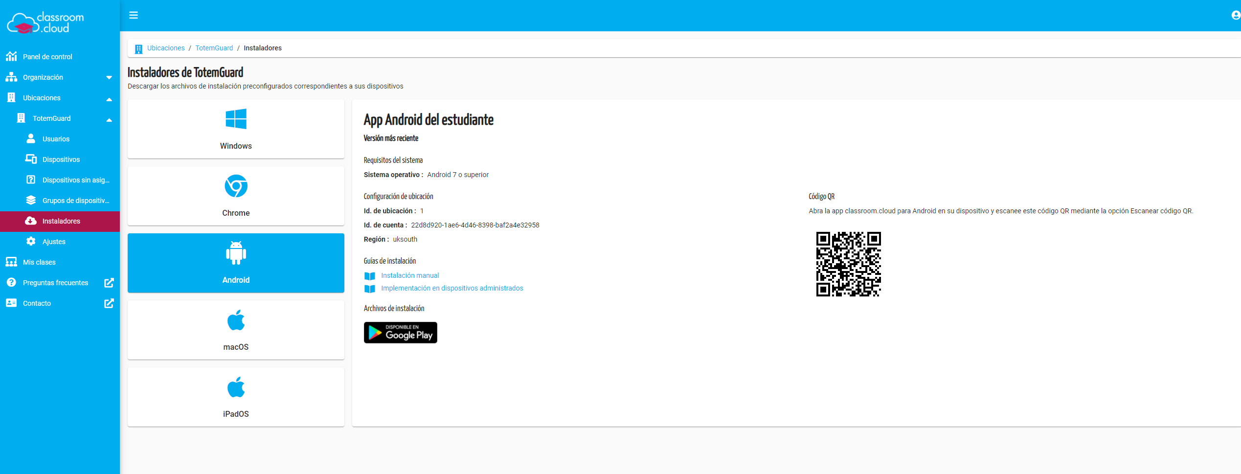 Classroom Cloud Estudiante Android