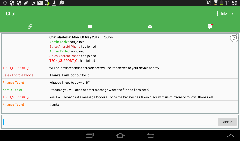 Chat Cliente Android Manager
