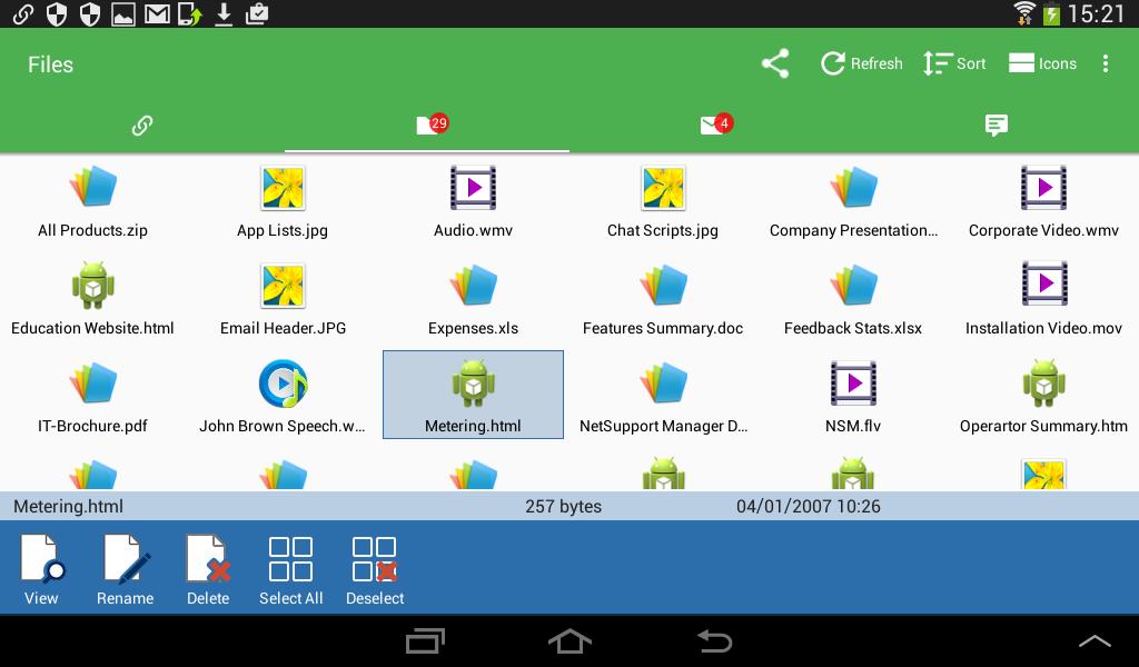 Transferencia de Archivos Cliente Android