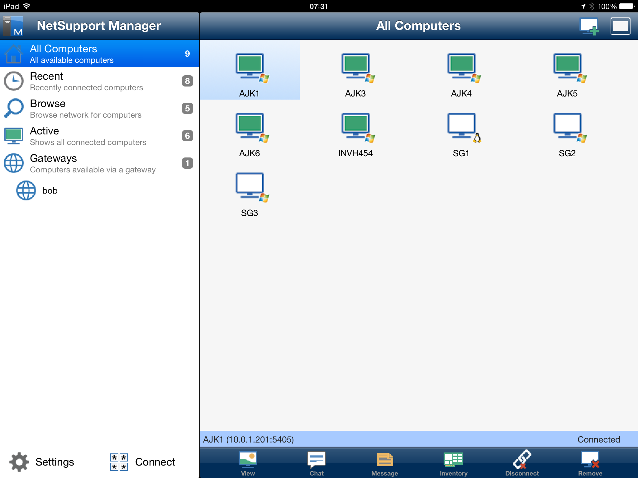 Control Movil NetSupport Manager