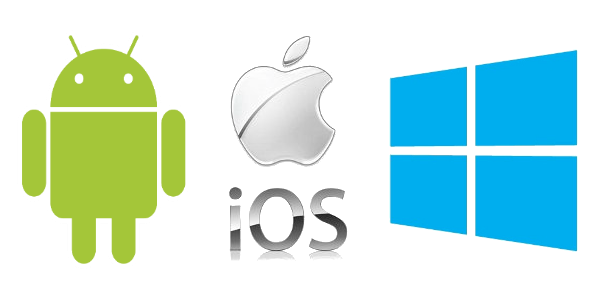 Logos android ios y windows