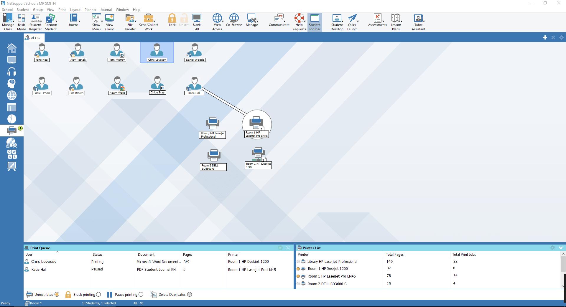 Monitorizar Impresoras
